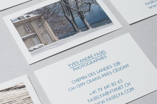 FASELYA Conception De Cartes Visite Pour Un Photographe Amateur